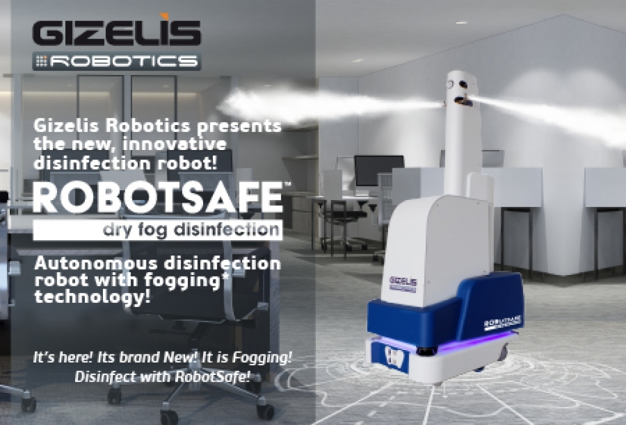 RobotSafe™: The first «Made in Greece» autonomous robot with fogging technology from Gizelis Robotics