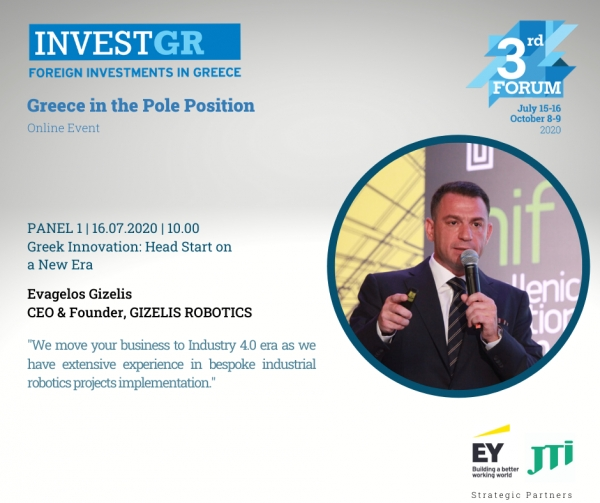 The 3rd InvestGr Forum 2020, 15-16.07.2020: Foreign Investments in Greece.