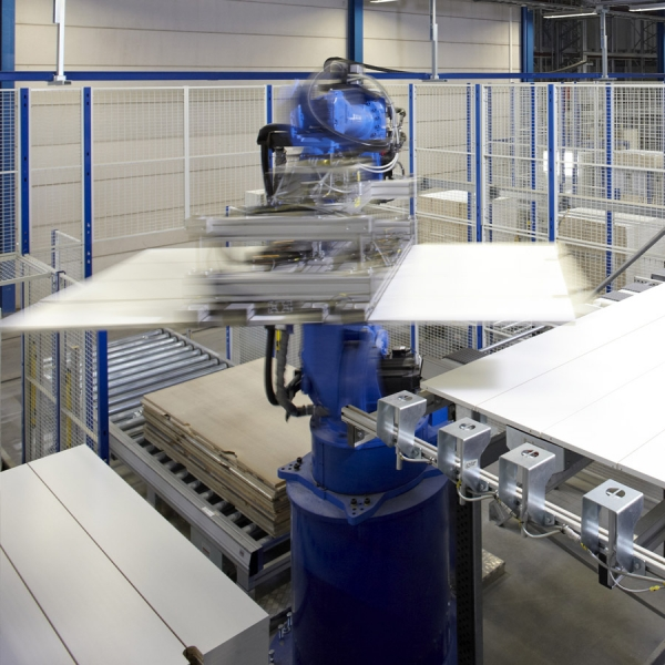 Robot packing system as General Mills
